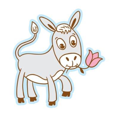 Cartoon style animals. Vector isolated object. Cartoon character.
