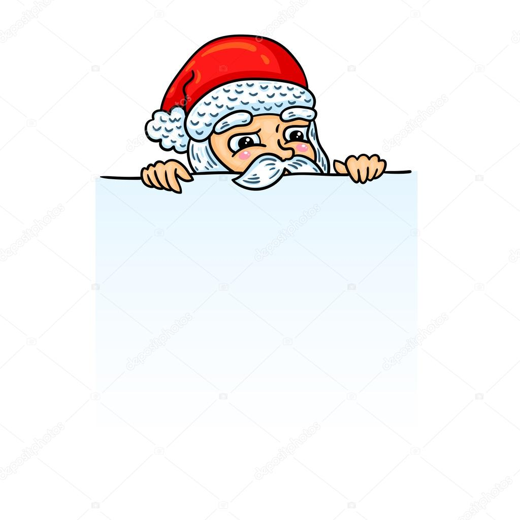 Santa Claus Cartoon Style Isolated Object Easy To Edit Element