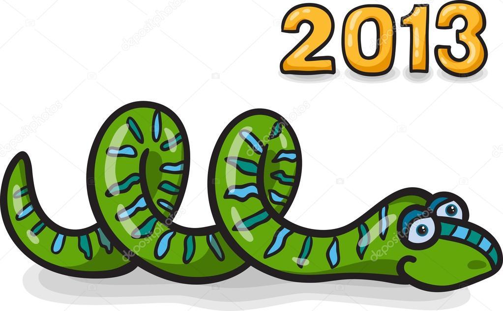 Serpente divertente cartone animato — vettoriali stock