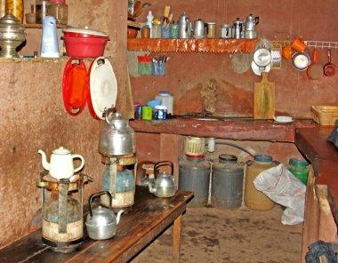 Kitchen in a village