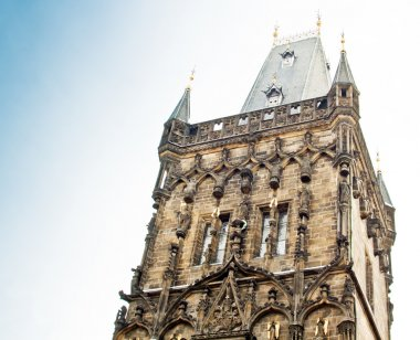 Famous Powder Gate in Prague, Czech Republic