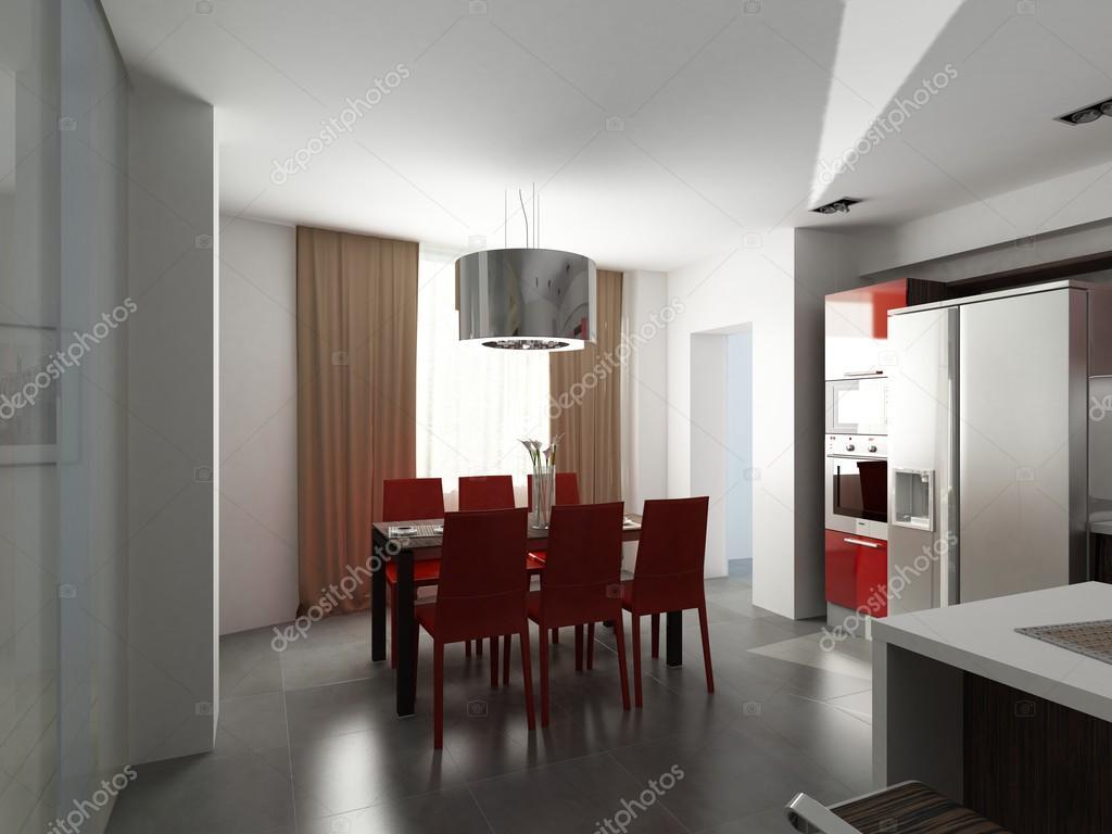 Moderne innenarchitektur küche u stockfoto yu tsai
