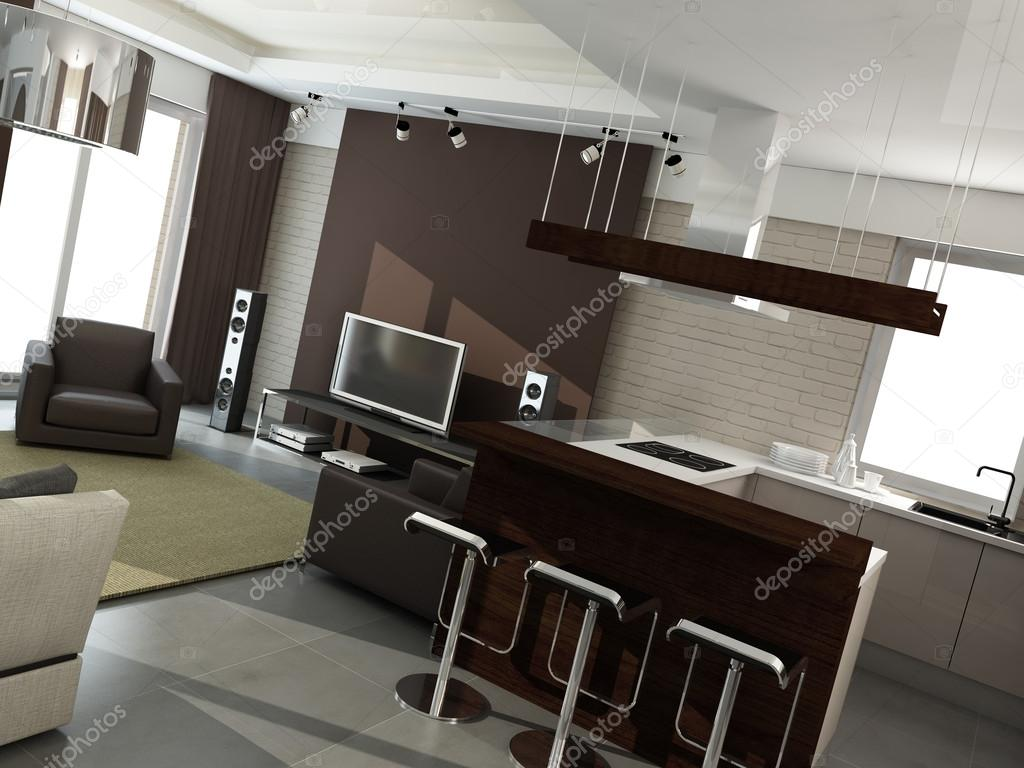 Moderne innenarchitektur küche  Innenarchitektur. Küche — Stockfoto #42128691