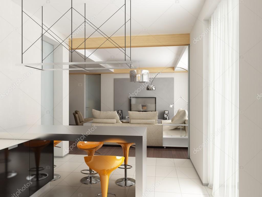 Moderne Innenarchitektur. Küche U2014 Stockfoto
