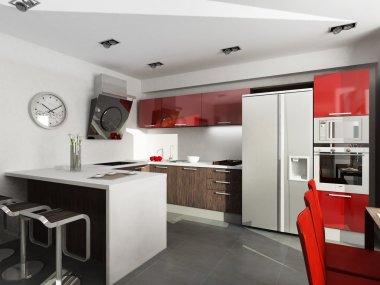 Modern interior design. Kitchen