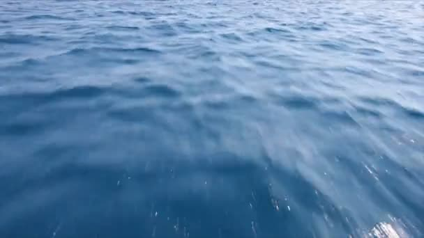 Fast floating above ocean surface