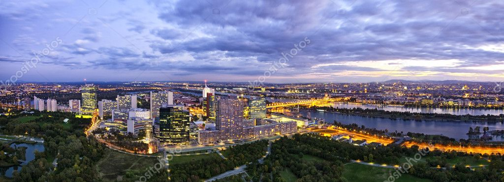Panorama - Skyline of Donau City Vienna