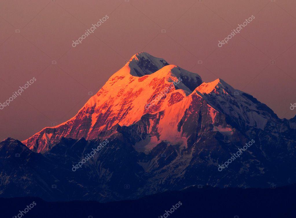 Three close mountain peak