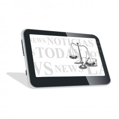 Tablet PC with news on laws