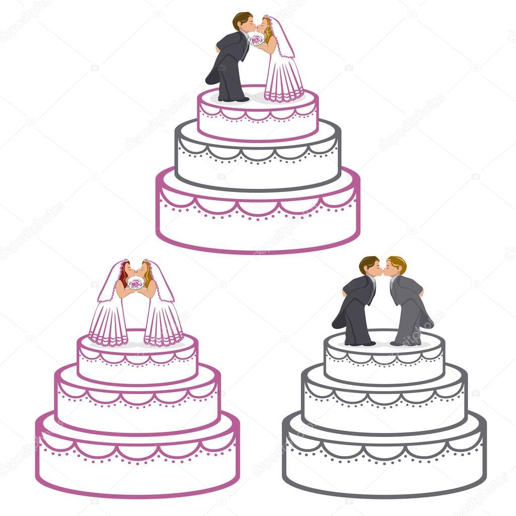 Hochzeitstorten Stockvektor C Puchalt 22704345