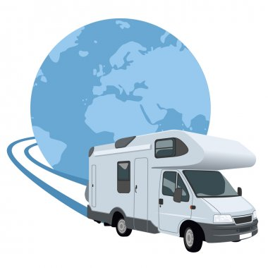 Mobile home traveling around the world