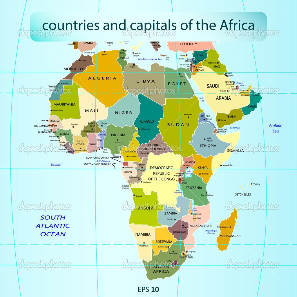 pays et capitales de lafrique � image vectorielle 20323187