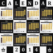 Kalendář 2014 - pozadí šachovnice