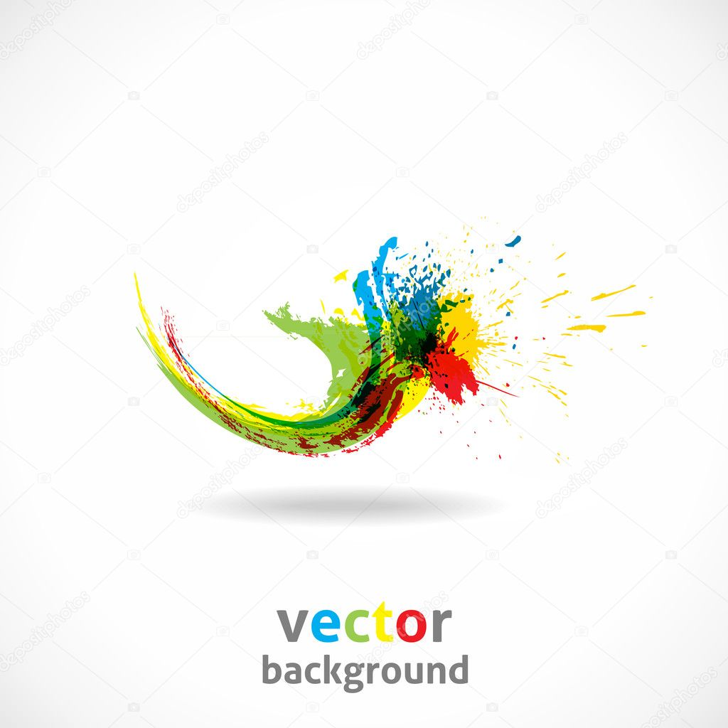 Color Ink Splash. Vector Grunge Background