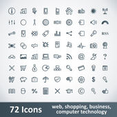 Große Icons Set. 72 Artikel