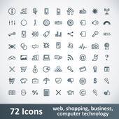 große Symbole festgelegt. 72 Teile
