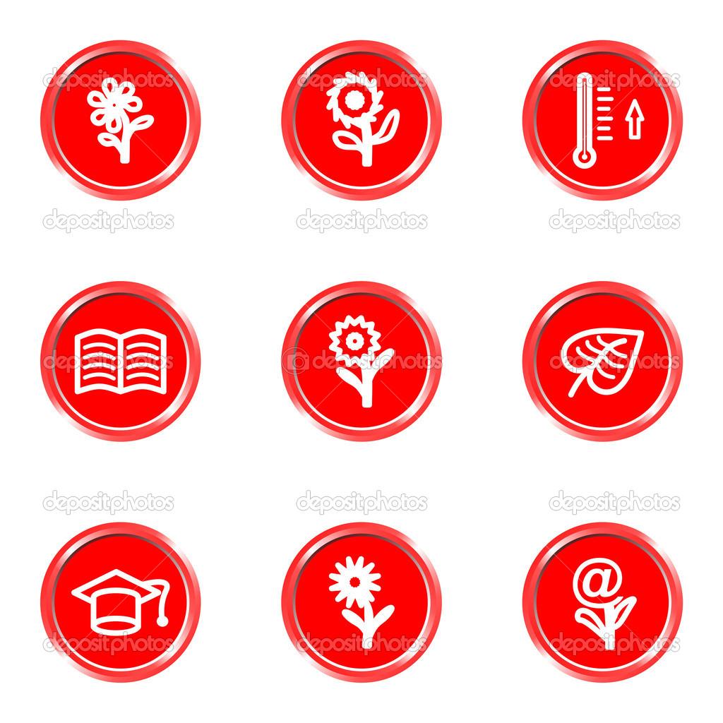 Glossy icons set