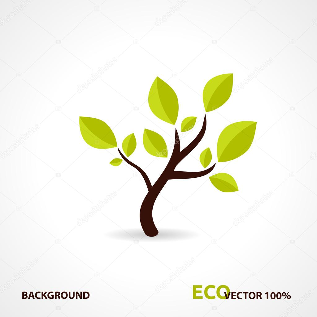 Eco Tech. Ecology Design Background. Logo