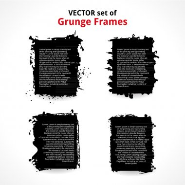 Vector Set of Grunge Frames