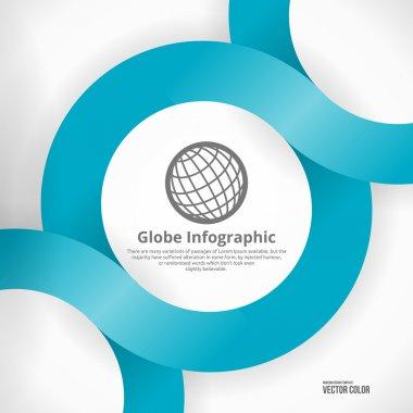 Globe Infographic Design