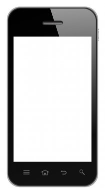 Smart Phone With Blank Screen