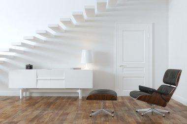 Minimalist Interior Room With Lounge Chair (Door Version)