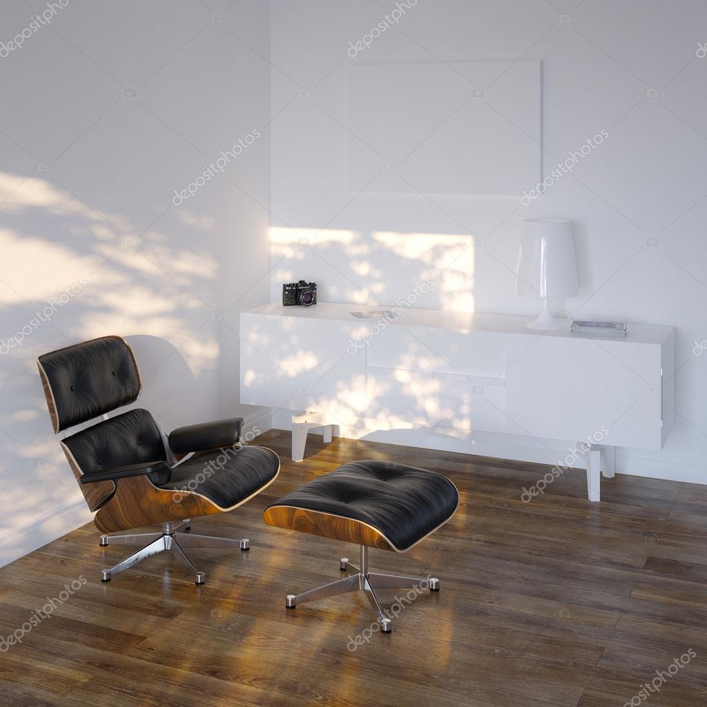 weiße Lounge Zimmer im minimalistischen Stil — Stockfoto © viz-arch ...