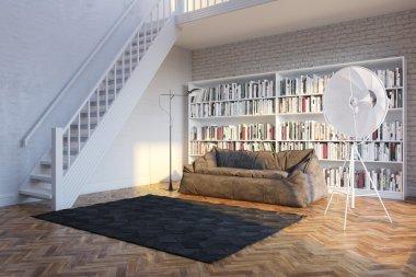 White bright interior