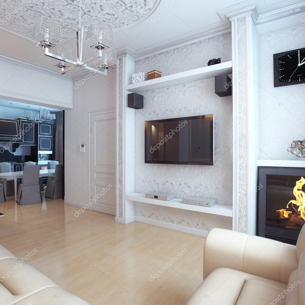 Photos Wooden Arch Designs In Living Room Living Room Interior Design With White Leather Sofa Stock Photo C Viz Arch 45537025