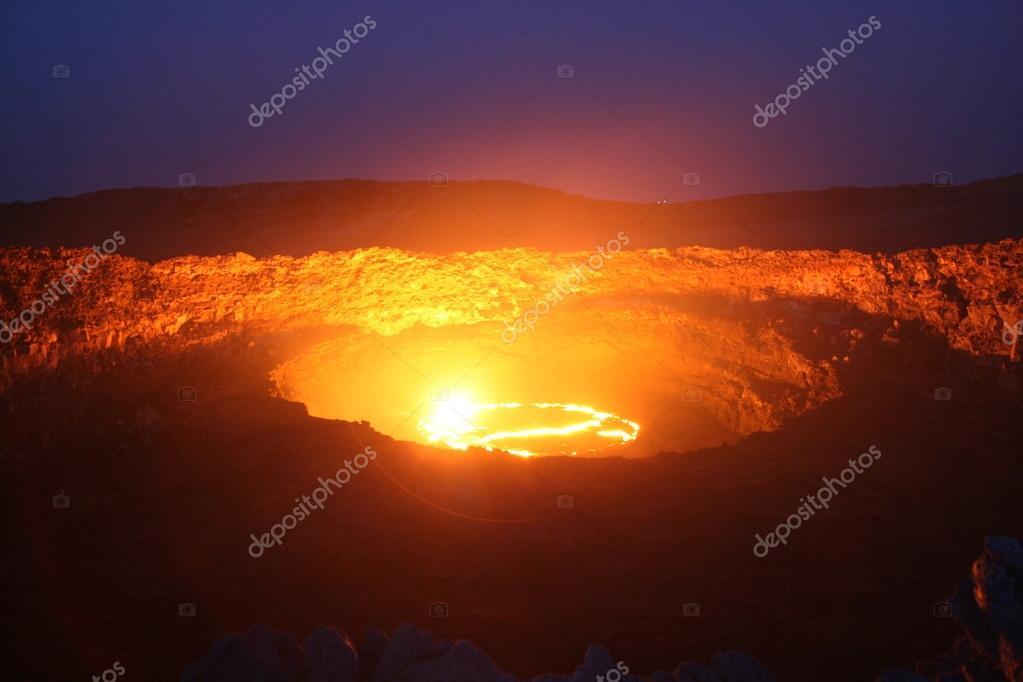 Volcano Erta Ale in Ethiopia Africa