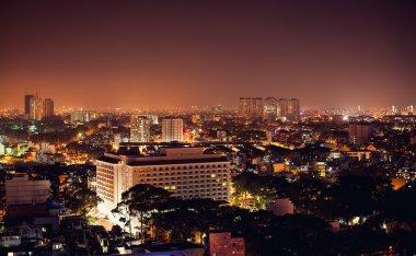 Panorama of night city - Vietnam, Ho Chi Minh City