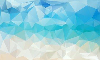 Abstract beach triangular pattern