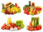 ovoce a zelenina izolovaných na bílém pozadí
