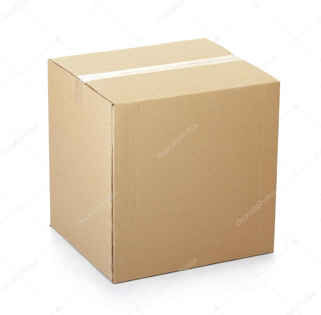 closed cardboard box taped up stock photo odua 37791427. Black Bedroom Furniture Sets. Home Design Ideas