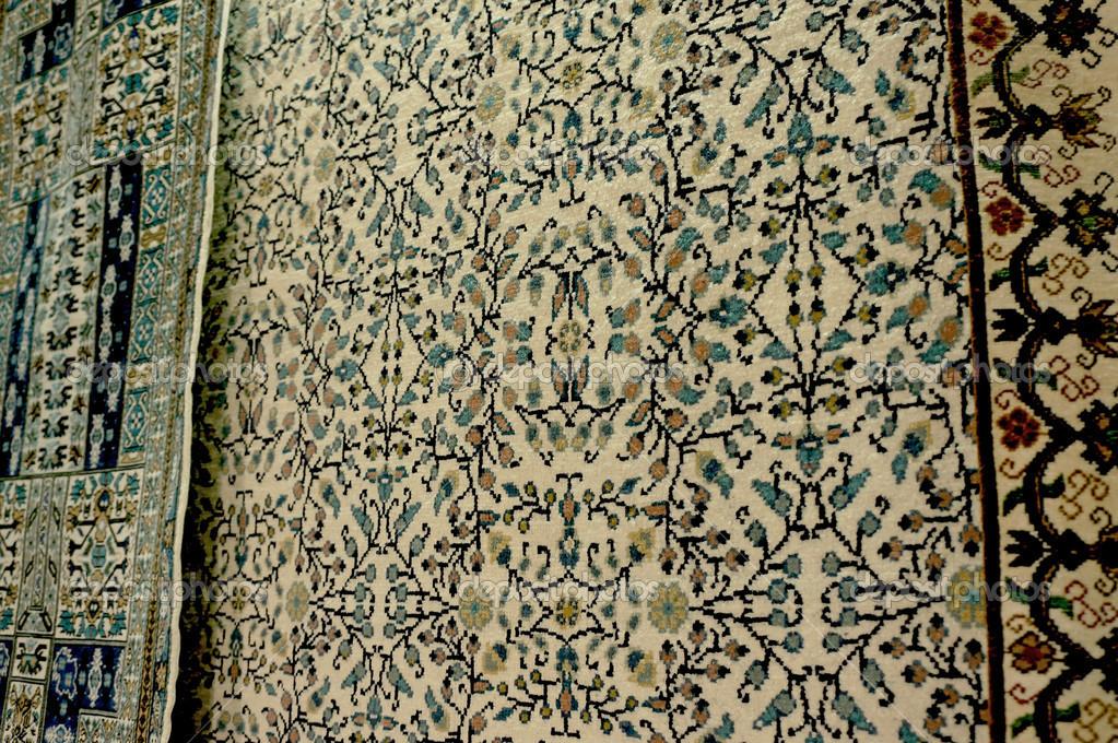 arredamento di un tappeto tunisino a kairouan foto stock