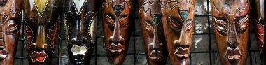 Handmade african masks
