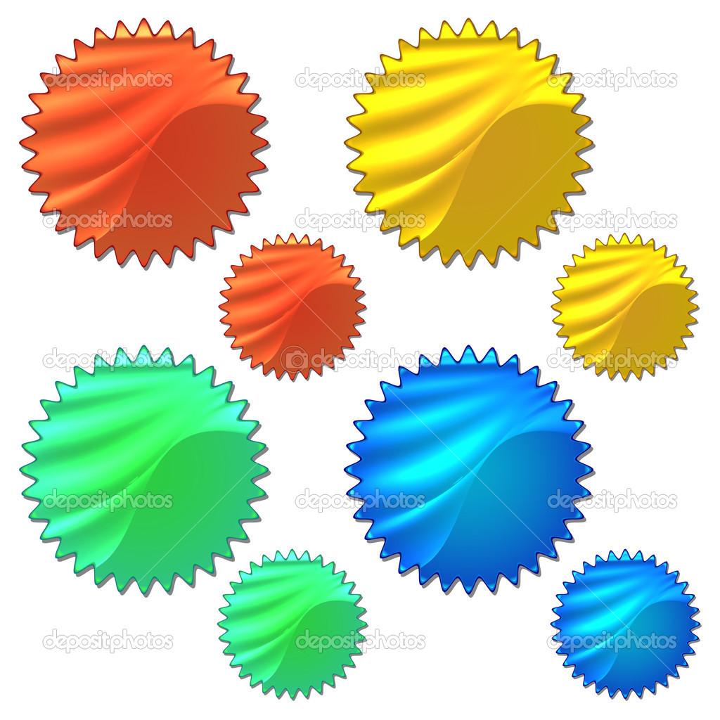 barevné sady s hologramem nálepky — Stock Vektor © punsayaporn  27248291 f781dc53907
