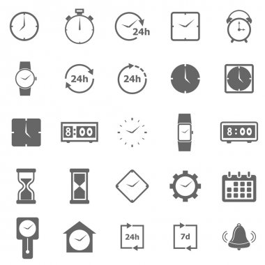 Time icons on white background