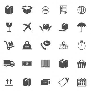 Shipping icons on white background, stock vector stock vector