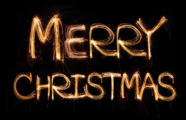 merry christmas sparkler