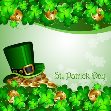 St Patrick's Day background clip art vector