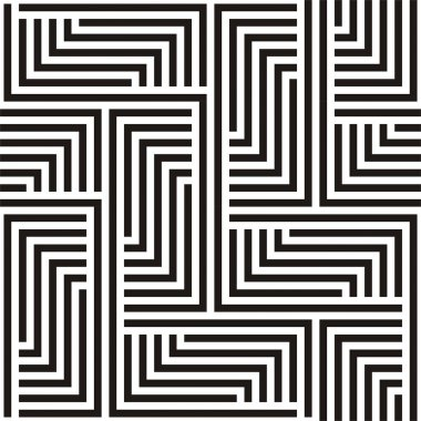 Black and white zigzag pattern stock vector