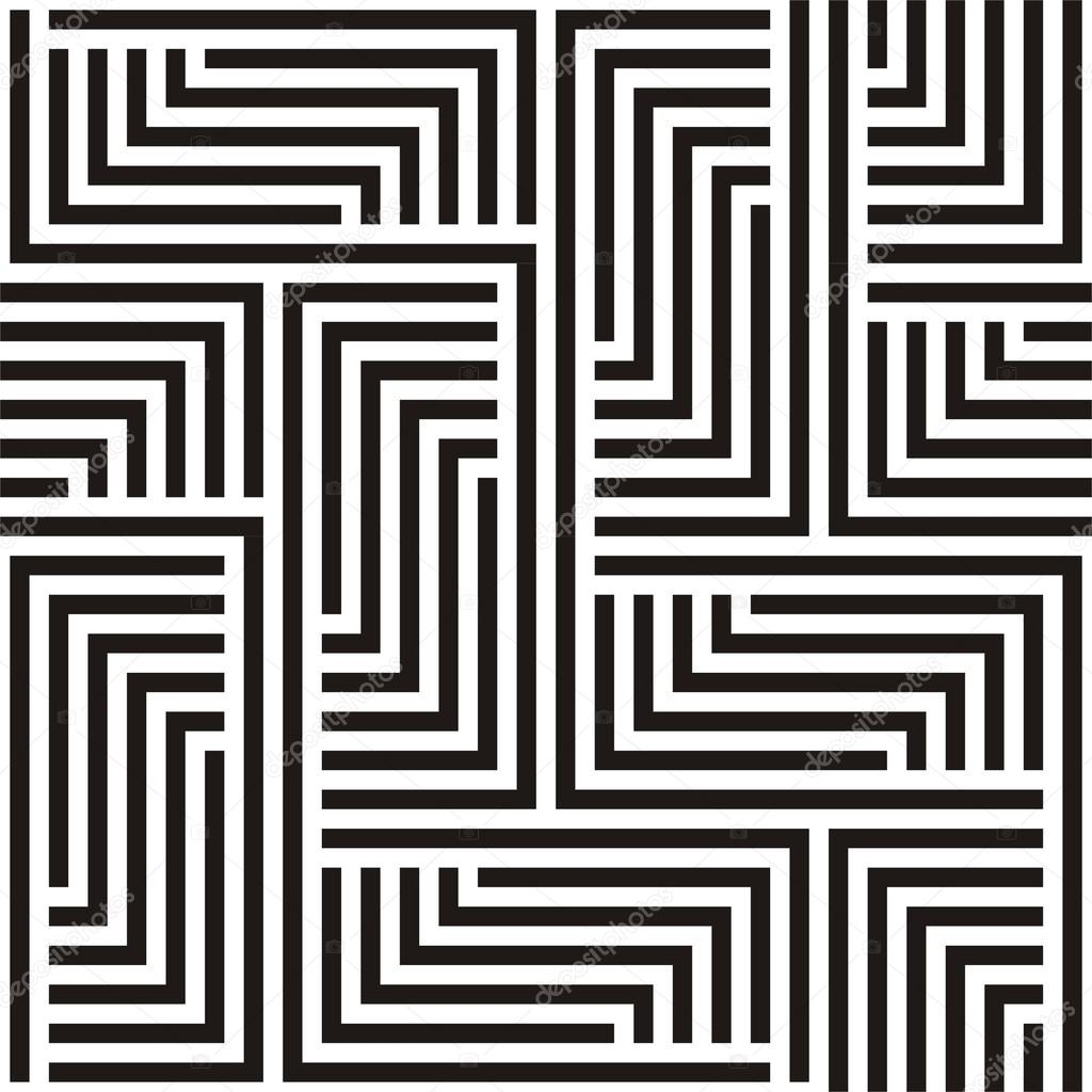 Black and white zigzag pattern clipart vector