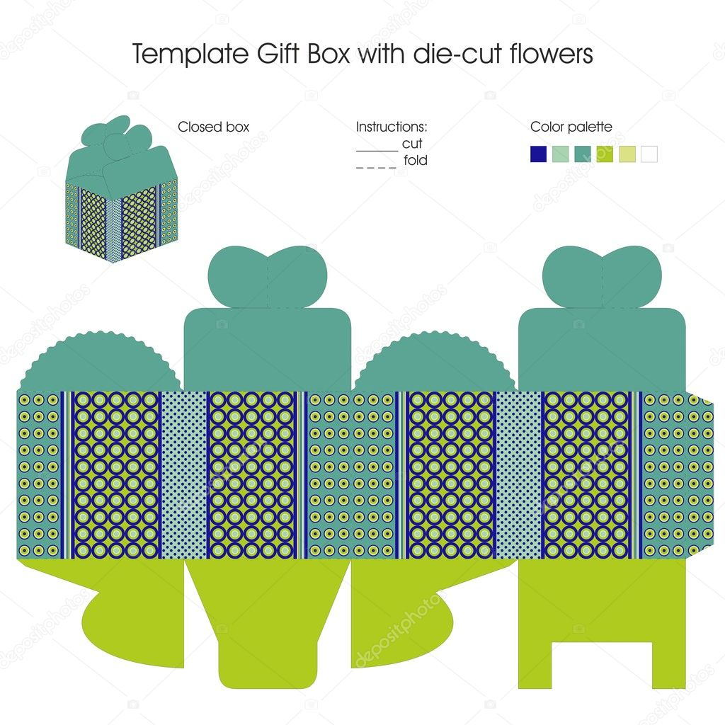 Template for gift box Stock Vector Elenasz 14800233
