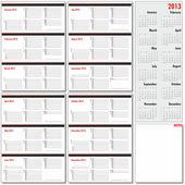Vektor-Jahresplaner für 2013