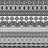 Fényképek Törzsi zökkenőmentes minta - azték fekete-fehér háttér