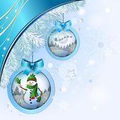Vánoční koule s sněhulák