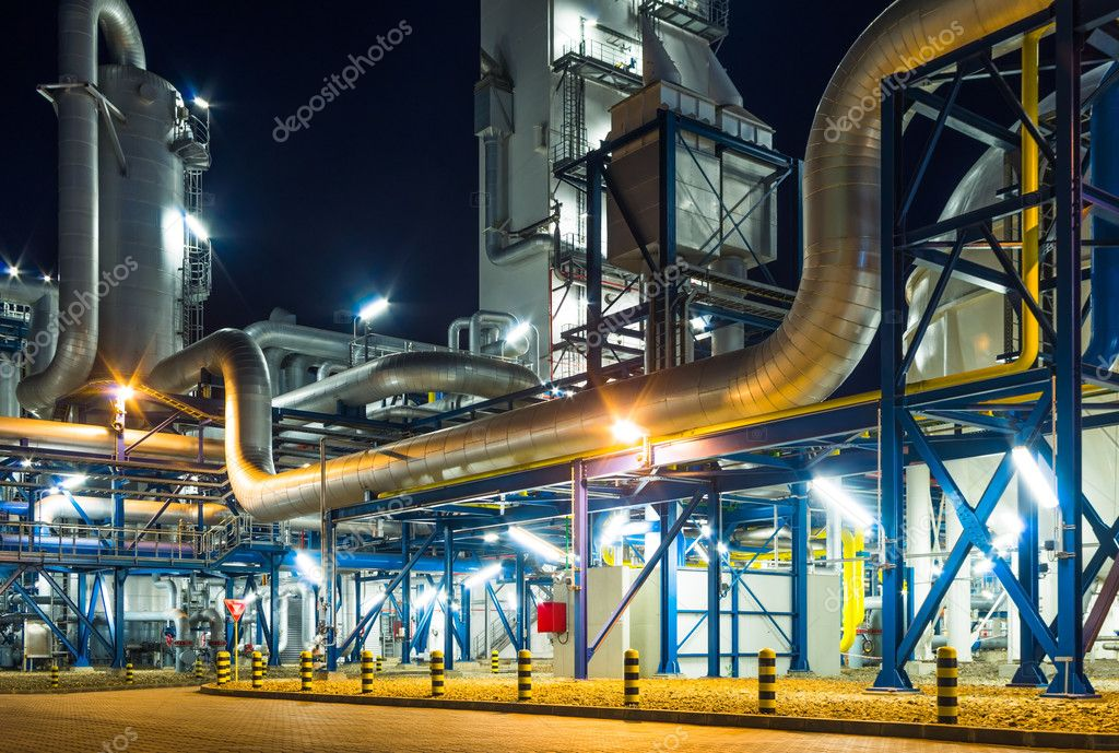 piping system in industrial plant