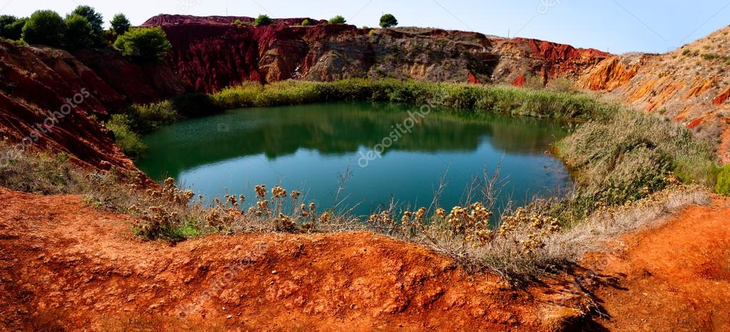 Bauxite Mine with Lake