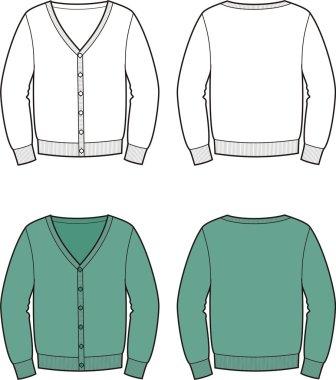 Vector illustration of men's cardigan